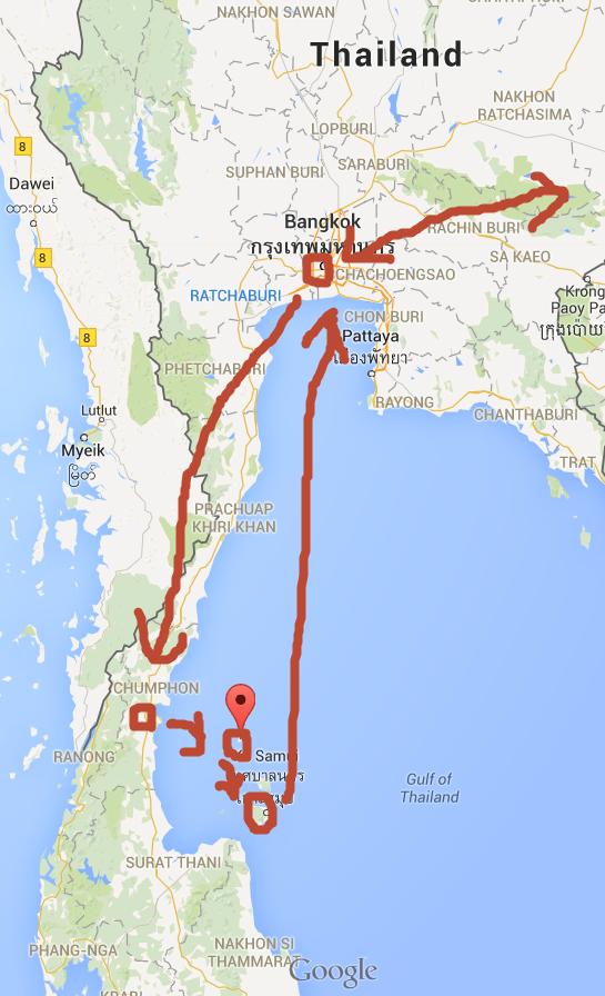 涛岛,苏梅岛的位置,让朋友们对各个地方的地理位置有