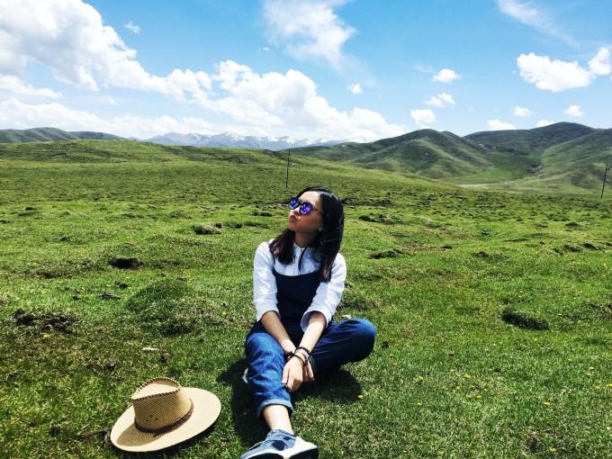 青海旅游拍照姿势